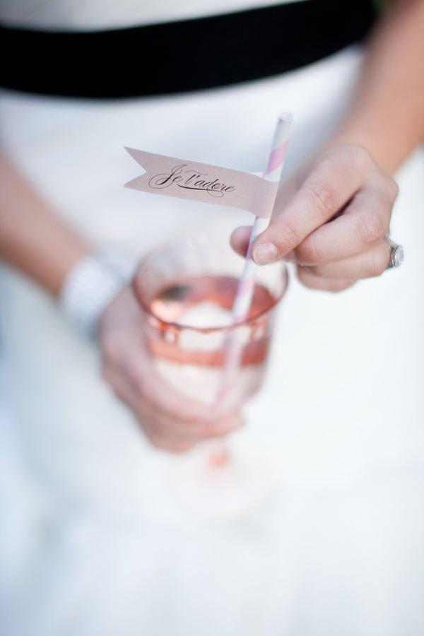 paille drole mariage