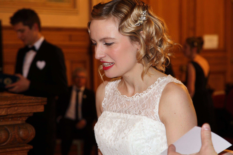 coiffure mariage crantee