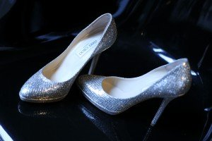 chaussures mariages argentees pailletees jimmy choo