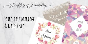 Faire part de mariage Happy Chantilly / partenaire withalovelikethat