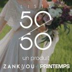 zankyou partenaire withalovelikethat : liste de mariage 50/50