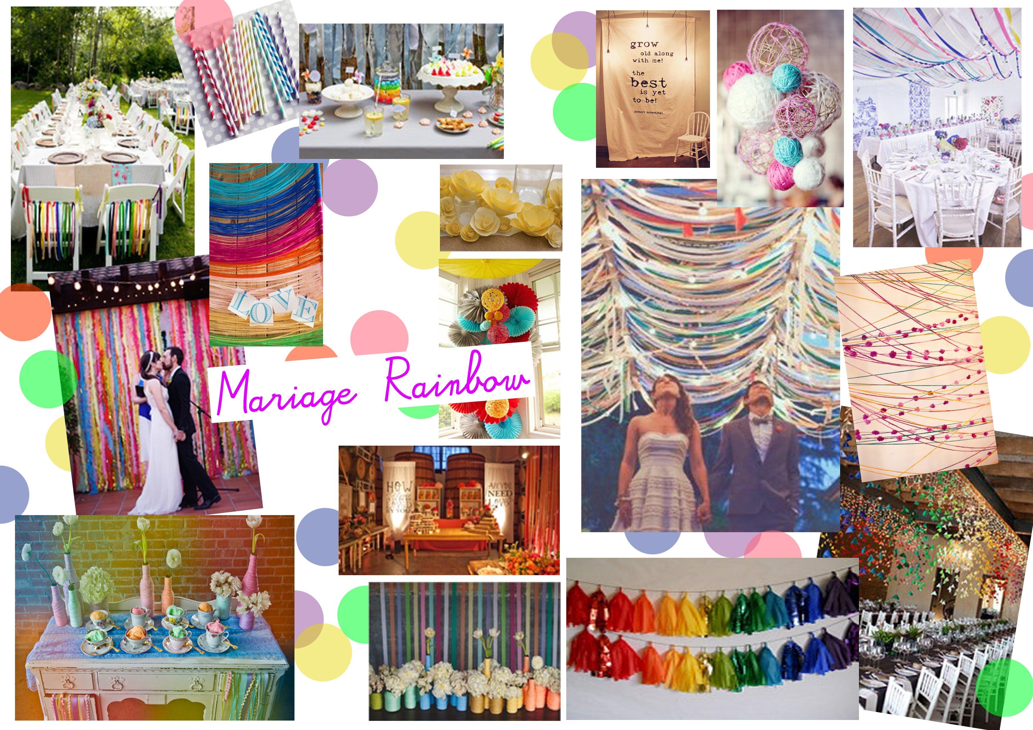 decoration mariage multicolore