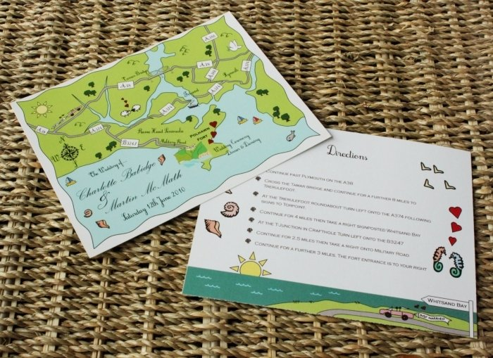 carte direction invitation mariage