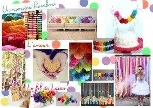 mariage multicolore decoration