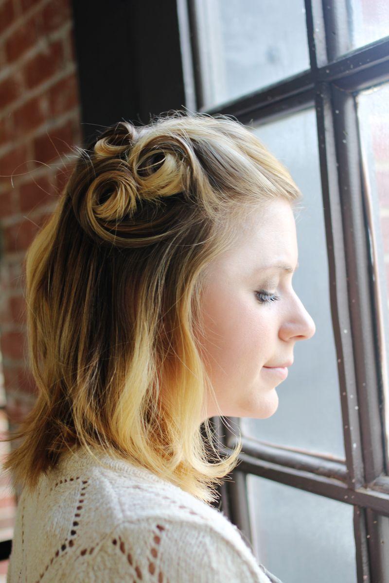 tutoriel cheveux courts retro