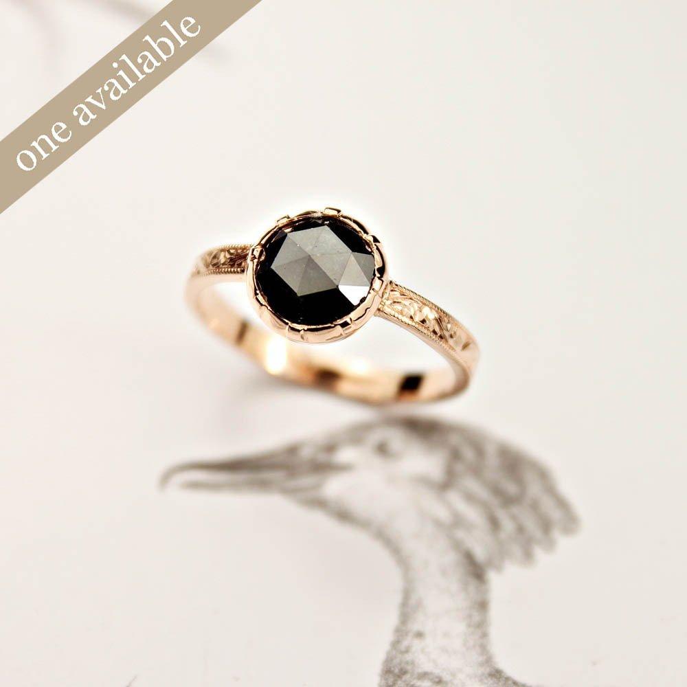bague demande en mariage diamant noir