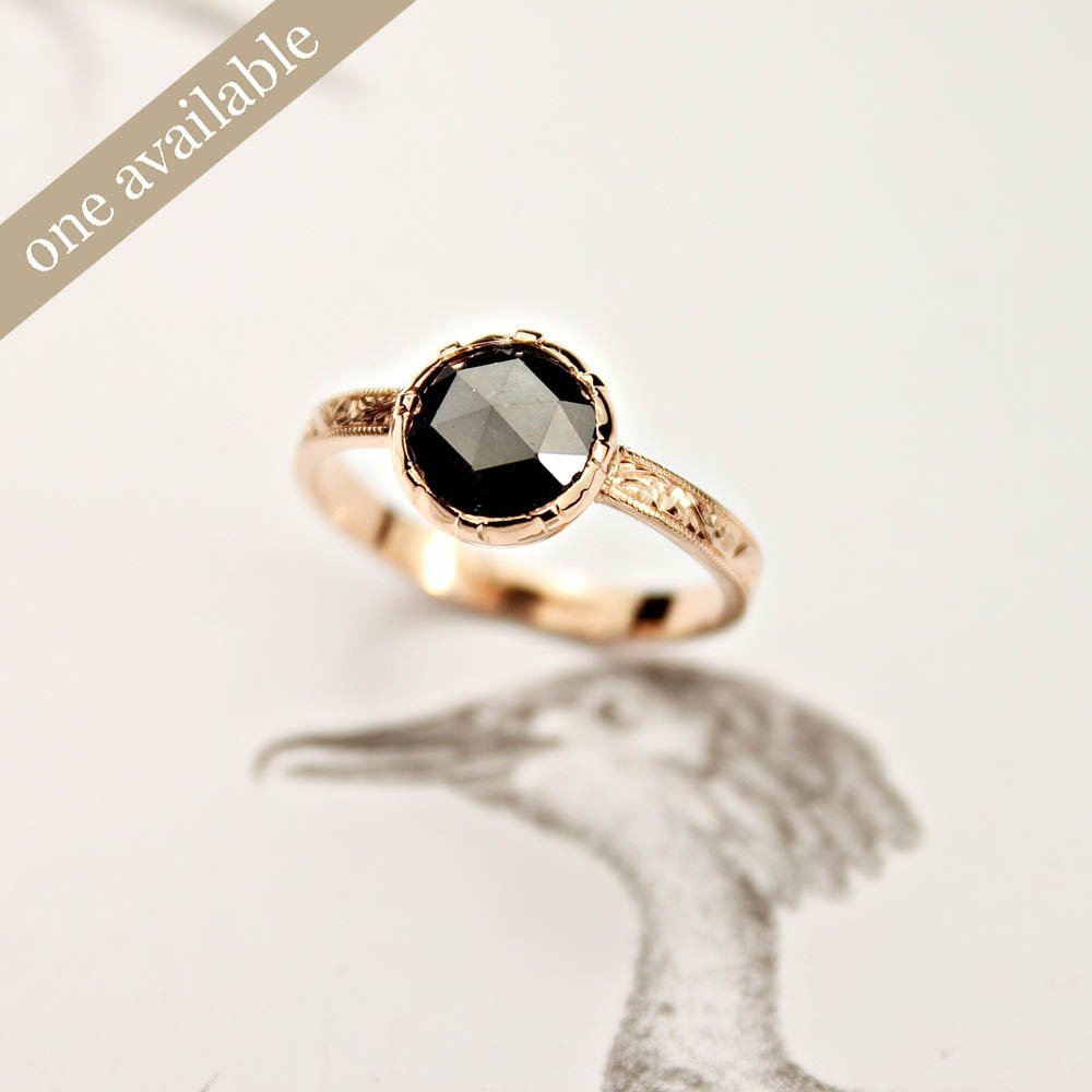 bague demande en mariage diamant noir with a love like. Black Bedroom Furniture Sets. Home Design Ideas