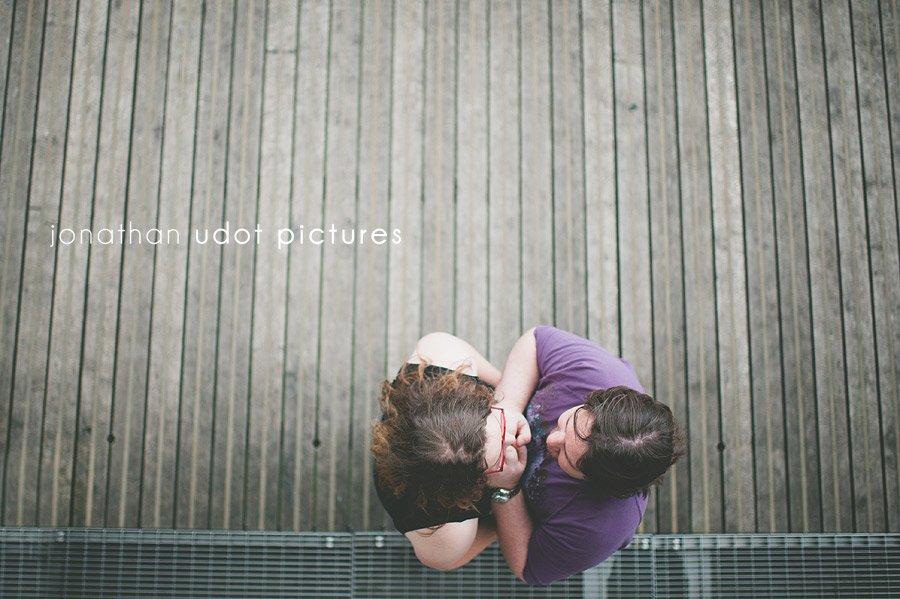 couple amoureux vu d'en haut