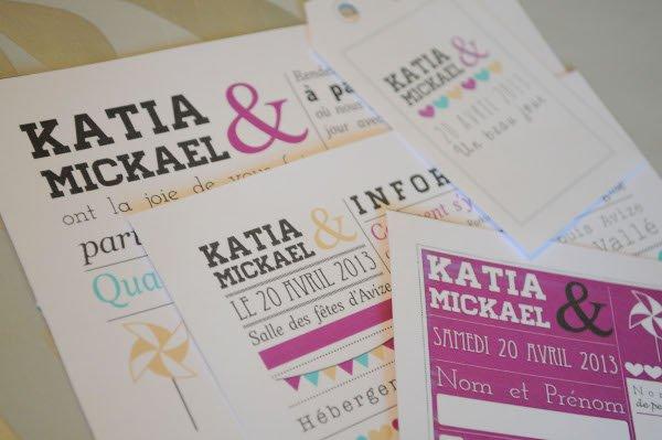 Relativ une histoire de faire part de mariage par  Katia - With a love  QJ25