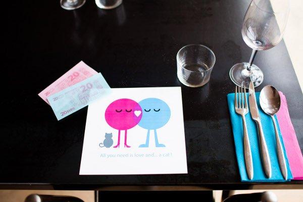 mariage rose et bleu deco table