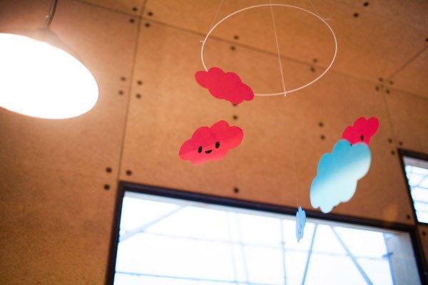 décoration mariage mobile nuage