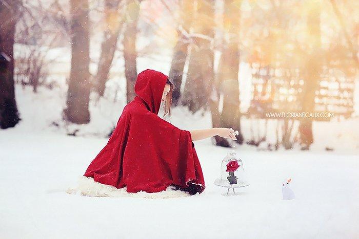 seance photo sous la neige