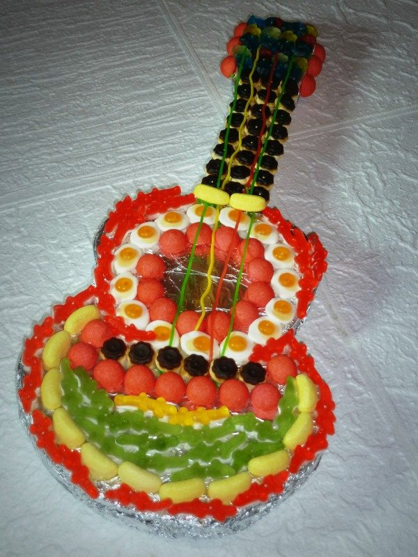 bonbons en forme de guitare