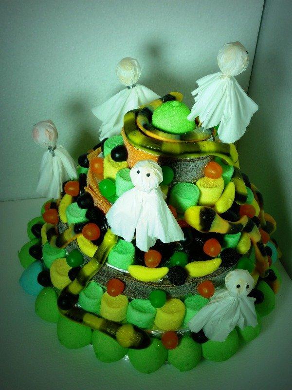 gateau de bonbons halloween
