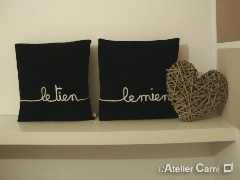 un coussin personnalis gagner l 39 atelier carr with a love like that blog lifestyle love. Black Bedroom Furniture Sets. Home Design Ideas
