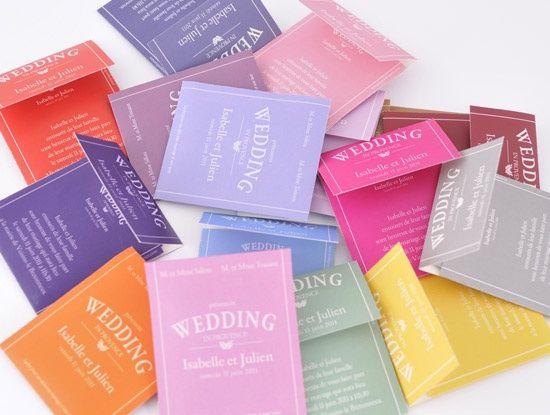 faire part mariage sachet de thé
