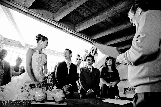 Thomas Dufourneau photo mariage noir et blanc