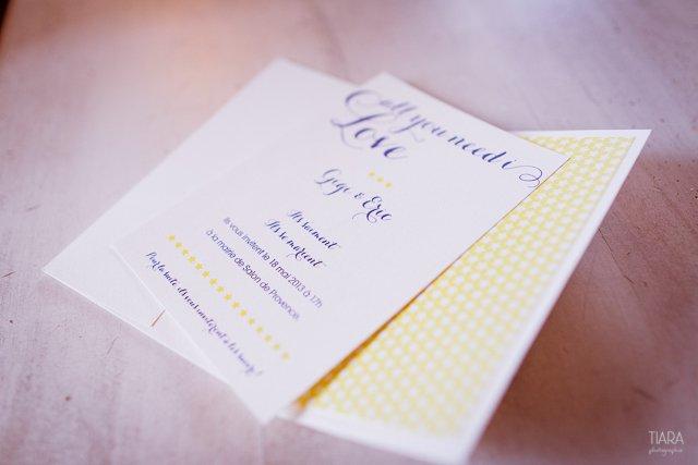 mariage bleu jaune