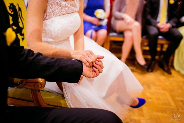 decoration mariage bleu et jaune