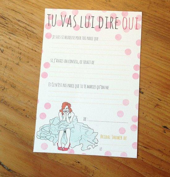 Populaire la belette rose et son bridal shower kit à télécharger pour les  TO11