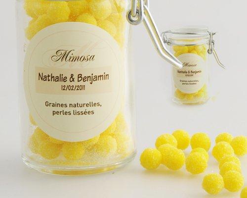 bonbons invités jaune