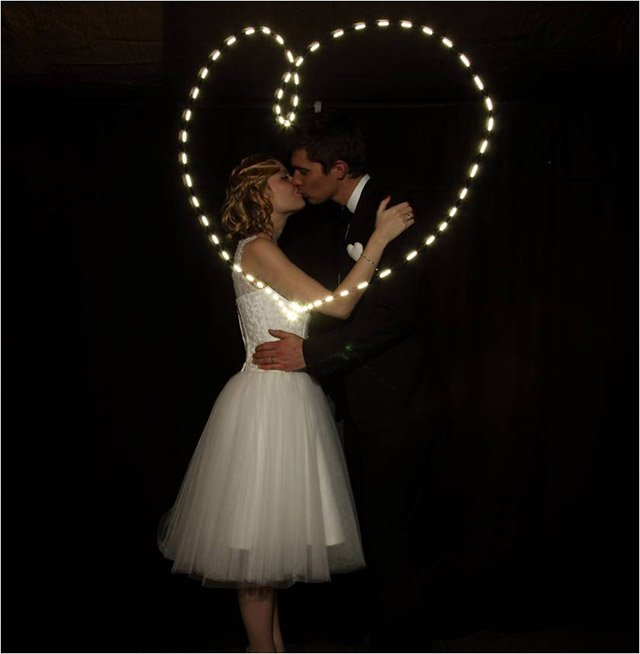 light painting mariage mister like that