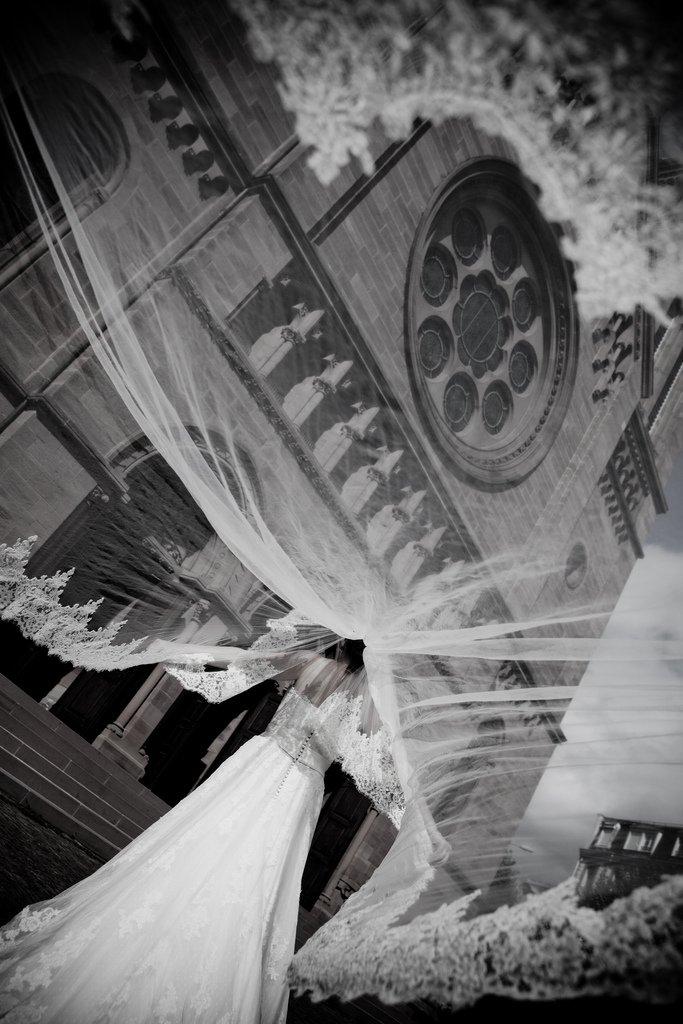 photo mariage voile eglise