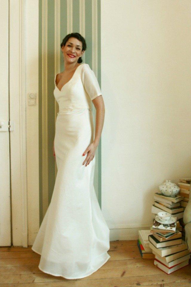 robe de mariée à manches berengere cardera