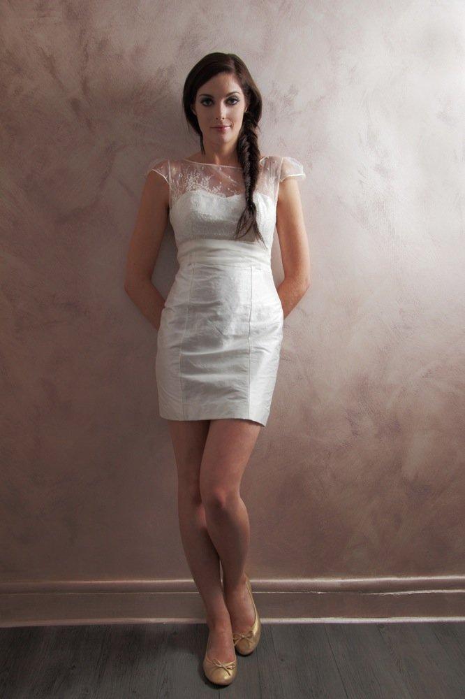 robe de mariée courte créatrice paris