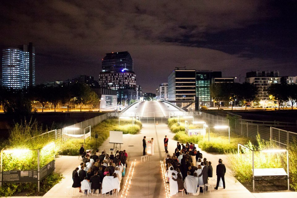 cérémonie de mariage de nuit paris
