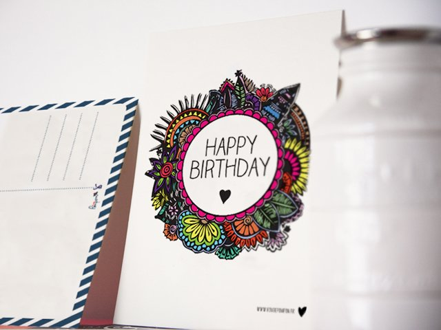 carte postales happy birthday