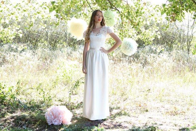 Des robes de mariées poétiques chic, Caroline Takvorian - With a ...