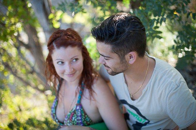 seance couple amoureux lac