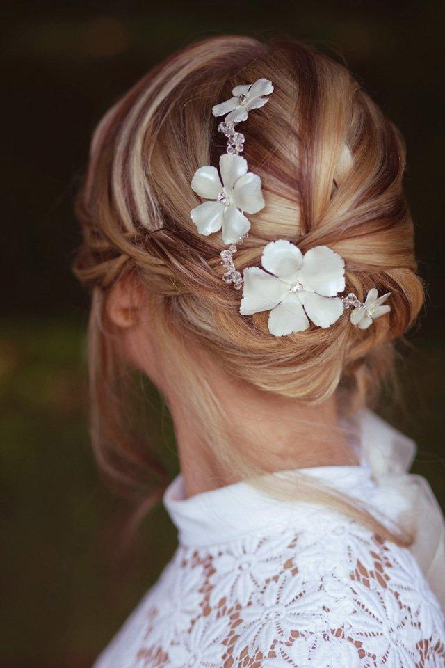 bijoux cheveux orchidee de soie