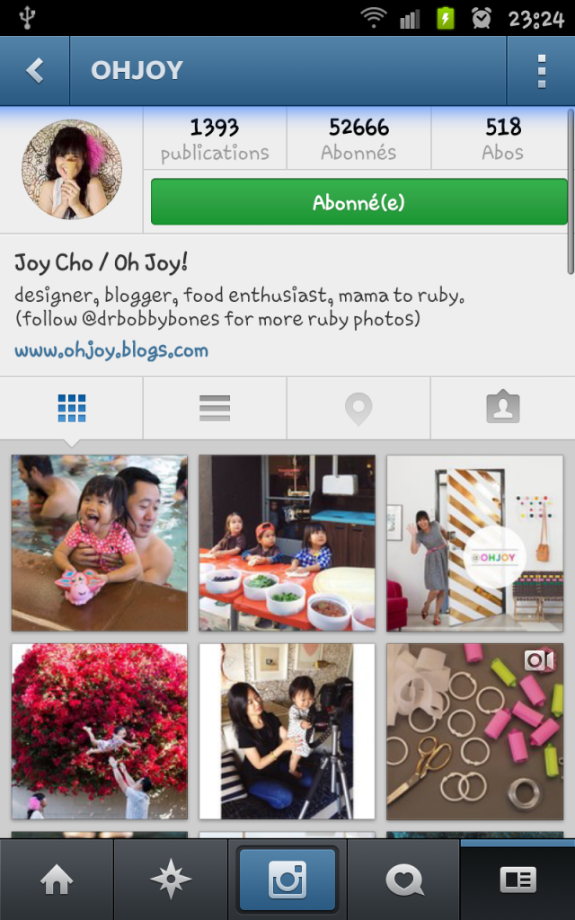 compte instagram oh joy!