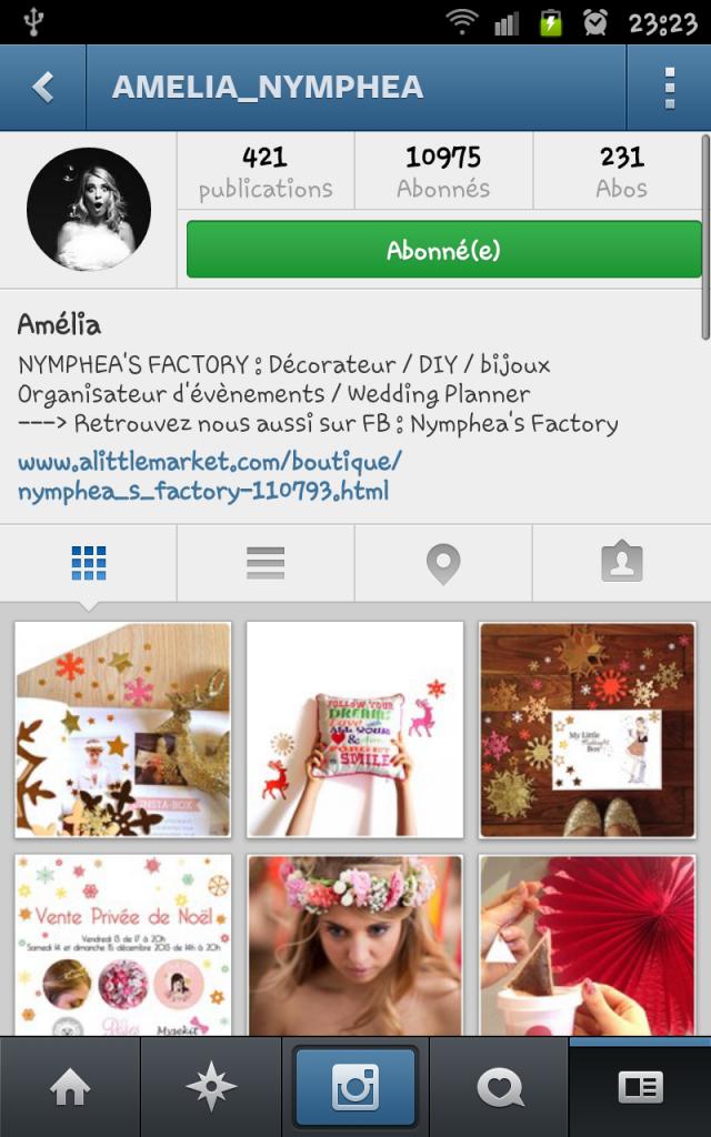 compte instagram amelia nymphea