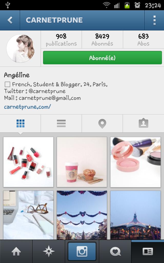 compte instagram carnet prune