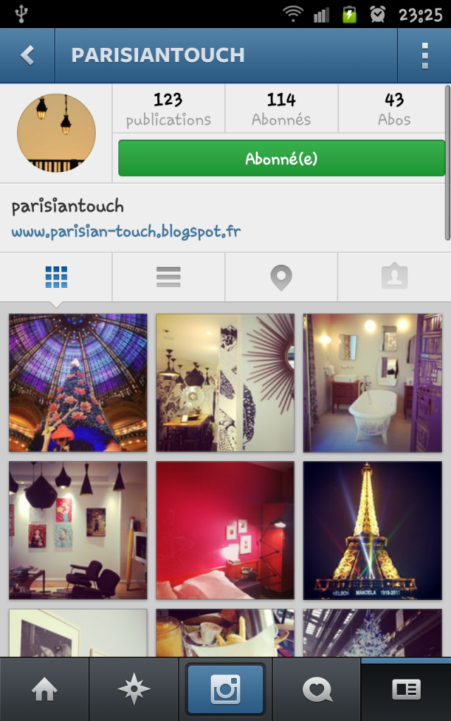 compte instagram parisian touch