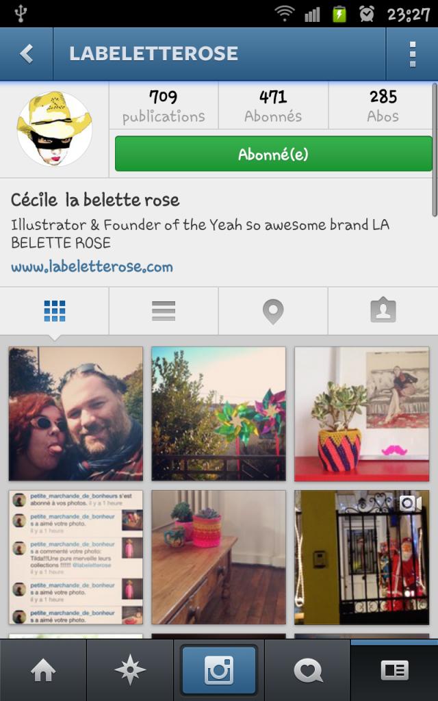 compte instagram la belette rose