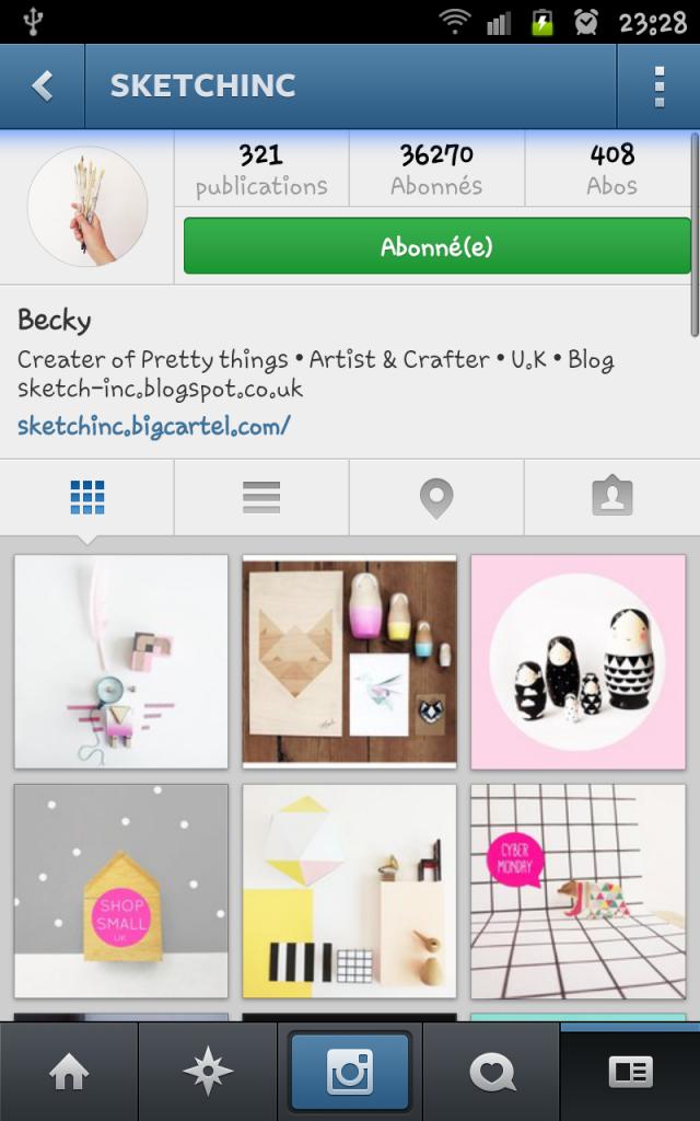 compte instagram sketch inc