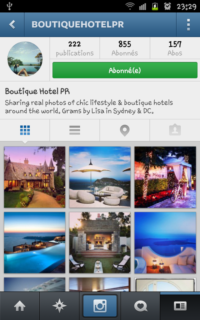 compte instagram boutique hotel