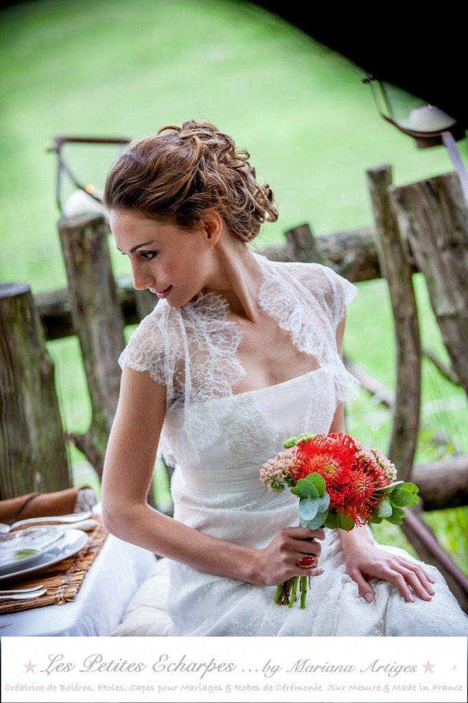bolero robe de marie les petites echarpes