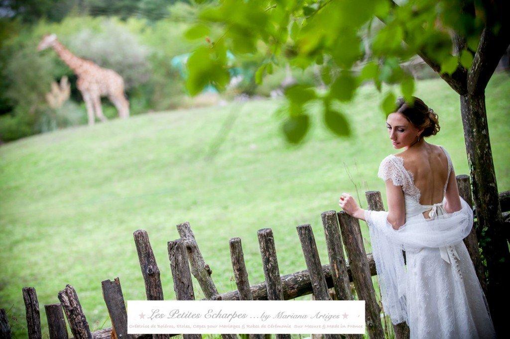 etole plissee pour robe de mariee les petites echarpes