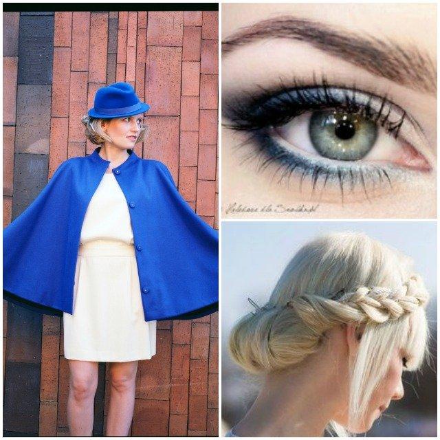 Une robe Marie Laporte – Une ambiance bleu Klein et aqua