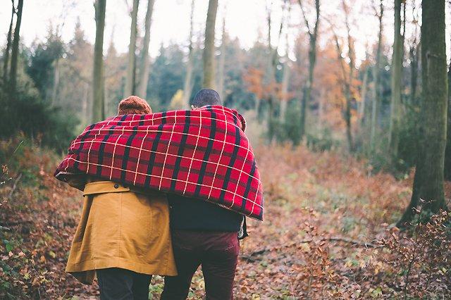 seance engagement forêt amoureux