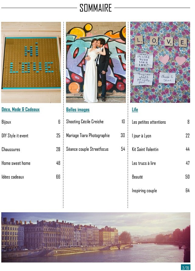 hi love magazine sommaire