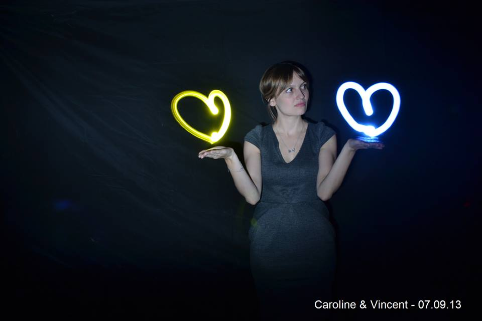 light painting mariage animation mariage originale