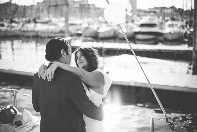 mariage sur un voilier à marseille Laurent Brouzet