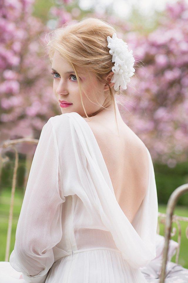 fleur en mousseline mariee rhapsodie