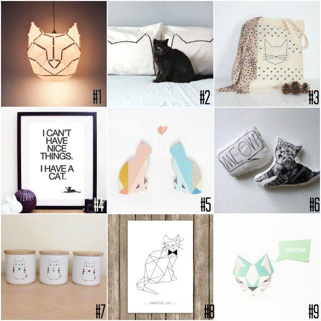 selection cadeaux pour amoureux des chats